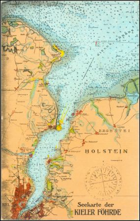 Kieler Bucht Karte.Kiel Seekarte Der Kieler Förde Um 1910