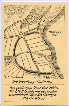 Haithabu Karte.Busdorf Haithabu Die Oldenburg Plan Karte Um 1910