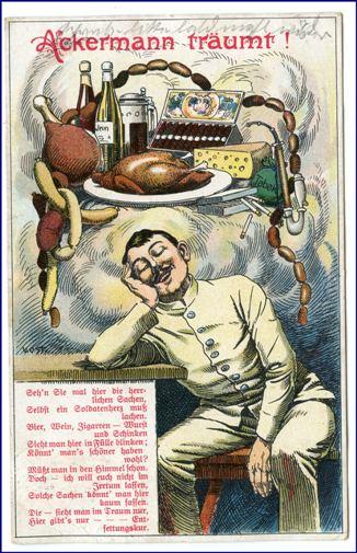 Humoristische Karte Von Europa 1914.Ackermann Traumt Gel 1914