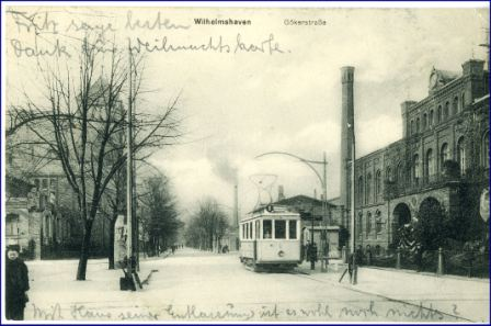 wilhelmshaven g kerstra e m stra enbahn gel 1917 alte bundesl nder wilhelmshaven w 2940. Black Bedroom Furniture Sets. Home Design Ideas