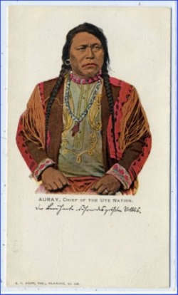 Indianer, Auray, Chief of the Ute Nation, um 1900