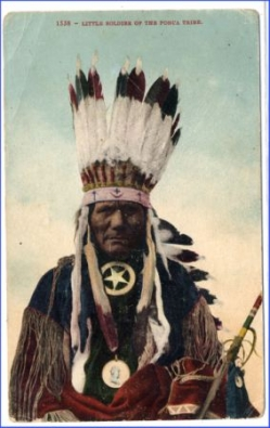 Indianer, Little Soldier of the Ponca Tribe, um 1910