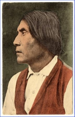 Indianer, Apache Indian of Today - Chief Yersterday, gel. 1910 --