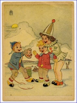 Kinderfasching (sign. RW), Karte 1947 --