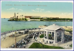 Kuba, Havana, Malecom and Morro Castle, Leuchtturm, gel. 1914
