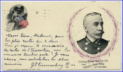 USA, Admiral George Dewey, Private Mailing Card, gel. 1900 --