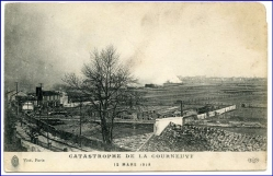 Courneuvf, Katastrophe 1918 (riesiges Grantendepot explodierte)
