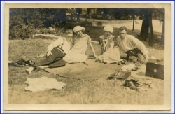 Picknick, Fotokarte, gel. Hamburg 1925