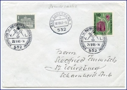 Bad Godesberg, Brief m. Sonderstempel Deutscher Freimaurer-Konvent, gel. 1963