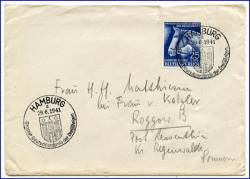 Hamburg, Brief m. Sonderstempel