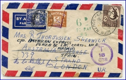 Australien, Largs, Brief, gel. 1958