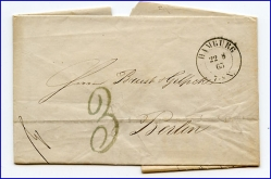 Hamburg, alter Brief m. Stempel v. 1865 --