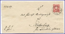 W4400 Münster, alter Brief m. Stempel v. 1880