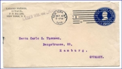 USA, Brief, Ganzsache m. Bordstempel Dampfer