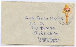 Tonga, Brief, gel. 1969