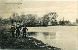 Bollingstedt, Ortspartie am Teich, gel. 1923