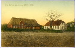 Ahneby, alte Schule, gel. 1915