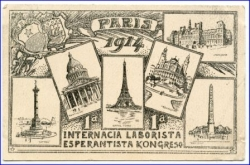Paris, Esperanto Kongress 1914, gel. 1914 --