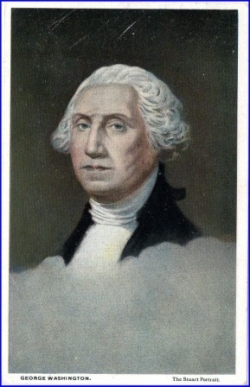 George Washington, Karte USA, gel. 1924
