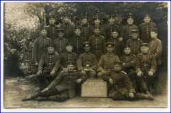 Neumünster, Soldatengruppe 85er Regiment, gel. 1915
