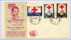 Rotes Kreuz, belg. Brief m. Florence Nightingale, gel. 1955