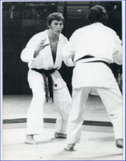 Judo, Europameisteschaft in Lyon, Günter Neureuther im Kampf (Fotografie 16 X 22 cm)