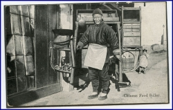 China, Chinese Food Seller (Karte auf Fotokarton geklebt)