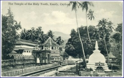 Ceylon, Kandy, Temple of the Holy Tooth, um 1910