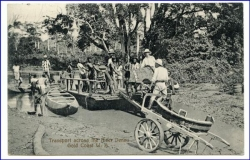 Ghana, Gold Coast, Transport across the river Densu, gel. 1913  (Briefm. sauber abgelöst)