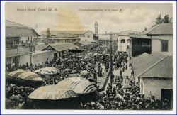 Ghana, Accra, Gold Coast, Coronationsfestival of a Chief, gel. 1913 (Briefm. sauber abgelöst)