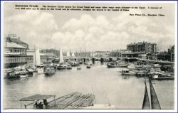China, Shanghai, Soochow Creek, um 1910