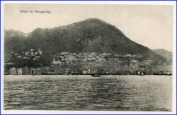 China, Hongkong, View of Hongkong, um 1900