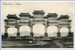 China, Peking, Ming Tombs, um 1910
