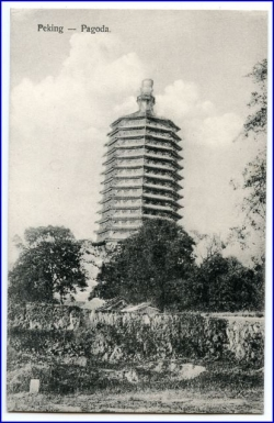 China, Peking, Pagoda, um 1910
