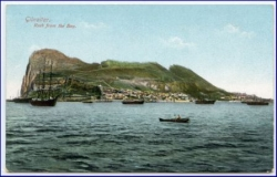 Gibraltar, Rock from the Bay, um 1910