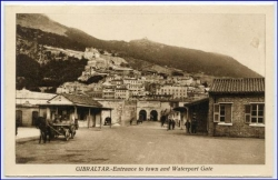 Gibraltar, Entrance to town and Waterport Gate