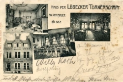 Lübeck, Haus d. Lübecker Turnerschaft, gel. ca. 1901