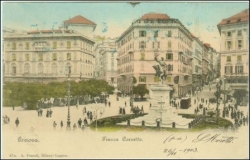 Genova, Piassa Corvetto, gel. 1903