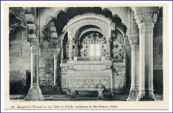 Delhi, Emperors Throne, Palace, Hall of Public Audience, um 1910