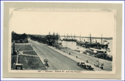 Calcutta, Strand Rd and Hooghly, um 1910