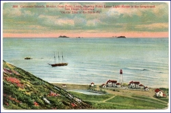 Coronado Islands from Point Loma, Pont Loma Lighthouse, um 1910