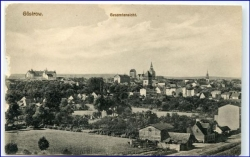 O2600 Güstrow, Panorama, um 1915 (li. Rand kl. Defekte)