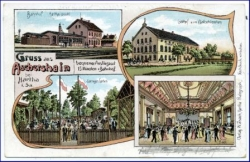 O7301 Aschershain, Lithografie, Bahnhof, gel. 1911