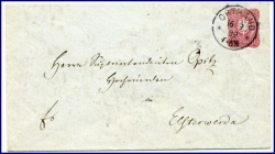 O7813 Ortrand, alter Brief, Ortsstempel v. 1889