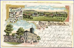 O9501 Ober-Rothenbach, Lithografie, gel. 1902