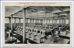 Indonesien, Royal Dutch Packet Company, SS Ruphius, Dining Saloon, um 1910