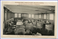 Indonesien, Royal Dutch Packet Company, SS Ruphius, Smoking Saloon, um 1910