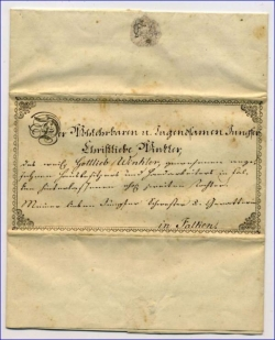alter Schmuckbrief v. 1855
