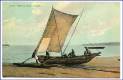 Ceylon, Sri Lanka, Native Fisching boat, um 1910