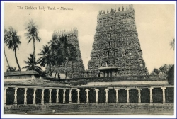 Ceylon, Sri Lanka, Madura, the golden holy Tank, um 1910